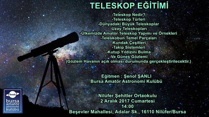 Teleskop eğitimi at nilüfer Şehitler ortaokulu bursa
