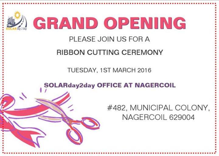GRAND OPENING CEREMONY at Nagercoil, Madras