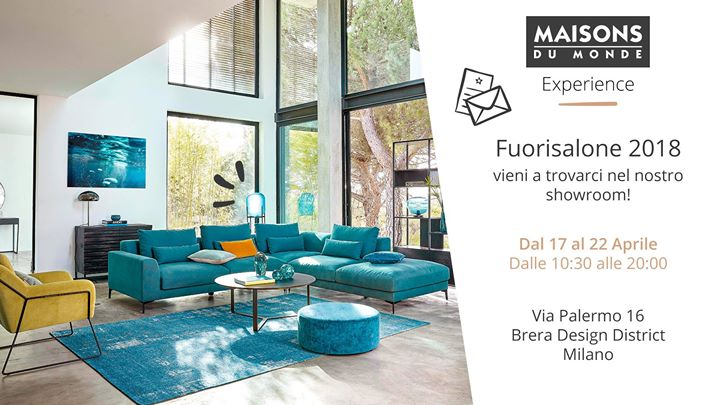 maisons du monde experience fuori salone at via palermo. Black Bedroom Furniture Sets. Home Design Ideas