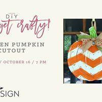 Get Crafty 2nd Class Added DIY Pumpkin Door Hanger