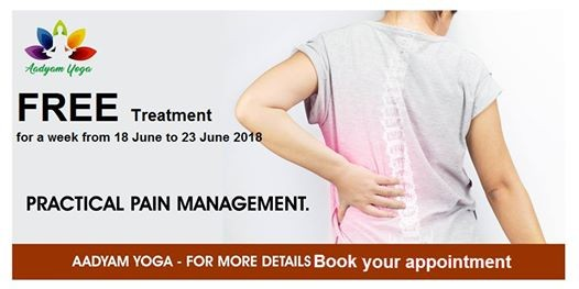 Free Treatment on Cervical Lumber & Joint pain by Yoga Therapy