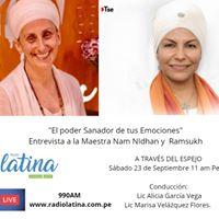Radio Entrevista a la Maestra Nam Nidhan Y Ramsukh