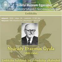 Emlkls Nyrdy Erazmus Gyula hallnak 50. vfordulja alkalmbl