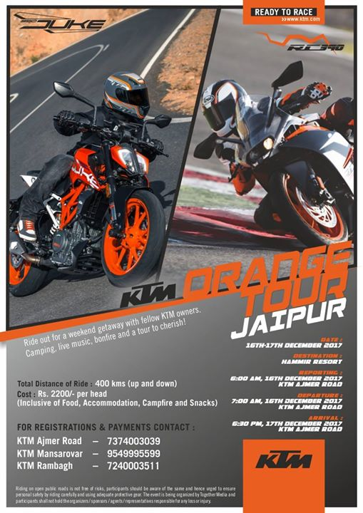 Jaipur KTM Orange Tour