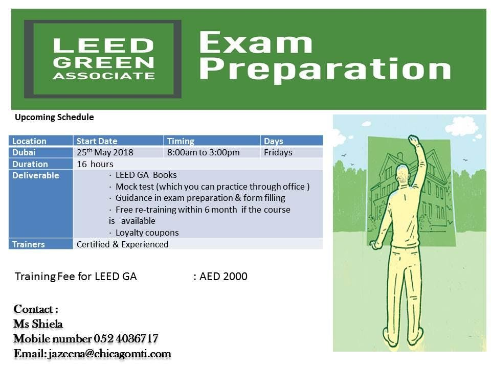 Leed Ga Exam Preparation Program In Dubai At Al Karama Dubai
