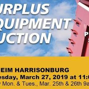 Surplus Equipment Auction Public Sale at Manheim Harrisonburg, Virginia