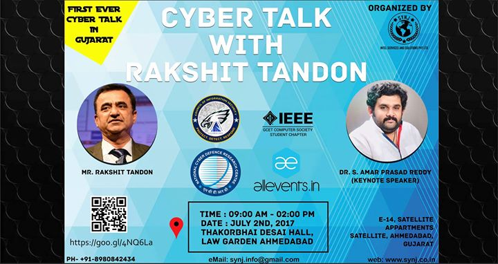 Cyber Talk in Ahmedabad with Rakhit Tandon