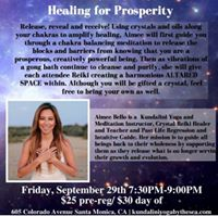 Altared Space Healing for Prosperity