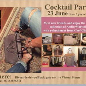 Cocktail party for AtelierMartini - save the date Saturday 23 fr