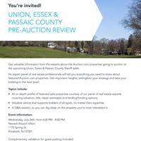Union Essex &amp Passaic County Pre-Auction Review