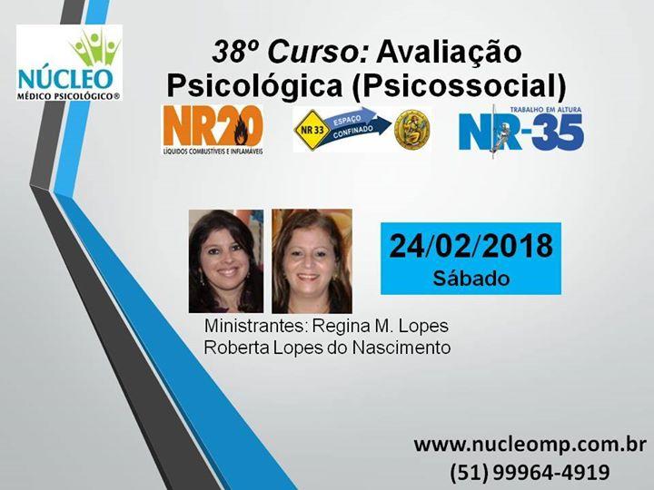 38º curso avaliação psicológica (psicossocial) conforme as nrs at