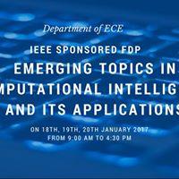 Emerging Topics on Computational Intelligence &amp its Applications