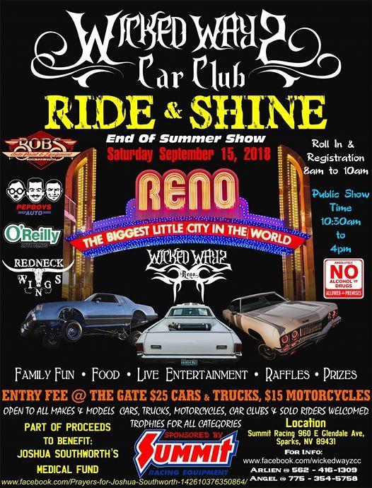 Wicked Wayz Car Club RIDE Shine At Summit Racing Equipment Nevada - Reno car show 2018