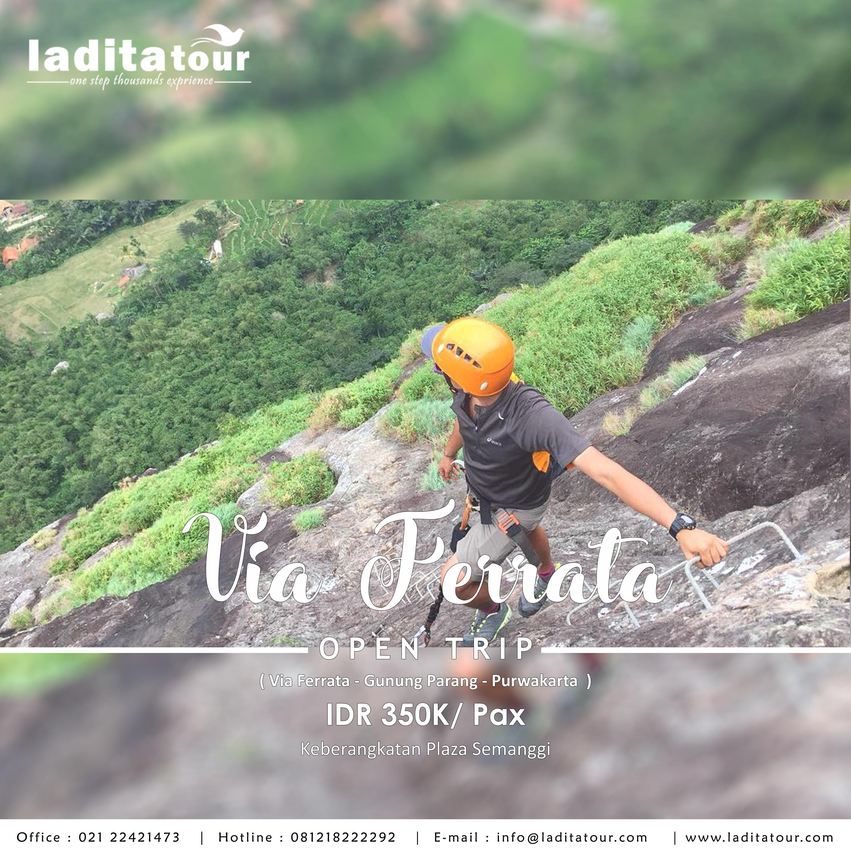 OPEN TRIP Via Ferrata Gunung Parang 16 Juni 2018 - Ladita Tour Jakarta