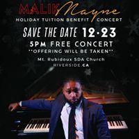Malik Mayne in Concert