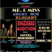 GHAZIABAD AUDITION - MR &amp MISS DELHI NCR ELEGANT
