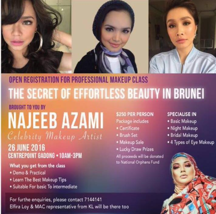 Makeup class by najeeb azami at the centrepoint hotel for An najeeb cuisine