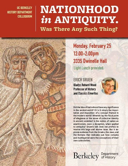 Nationhood in Antiquity A History Department Colloquium