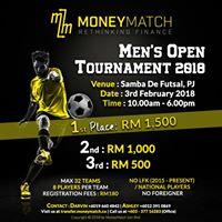 Mens Open Tournament 2018