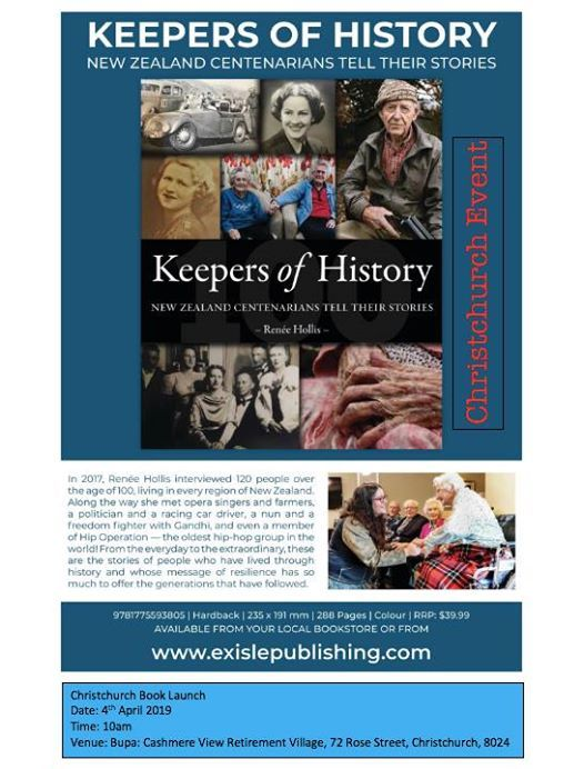 Christchurch Book Launch for Keepers of History