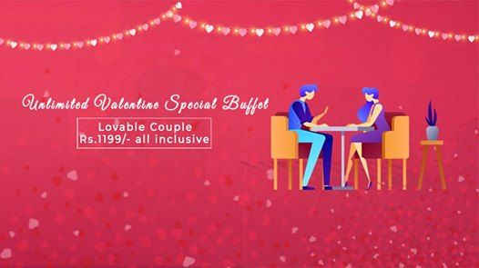 Valentines Special Lovable Couple Buffet