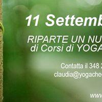Corsi di Yoga a Montorso - ogni Lunedi dalle 1800 alle 1930