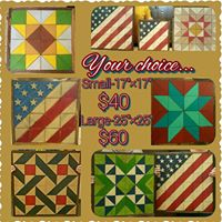 Large Or Small Wood Quilts