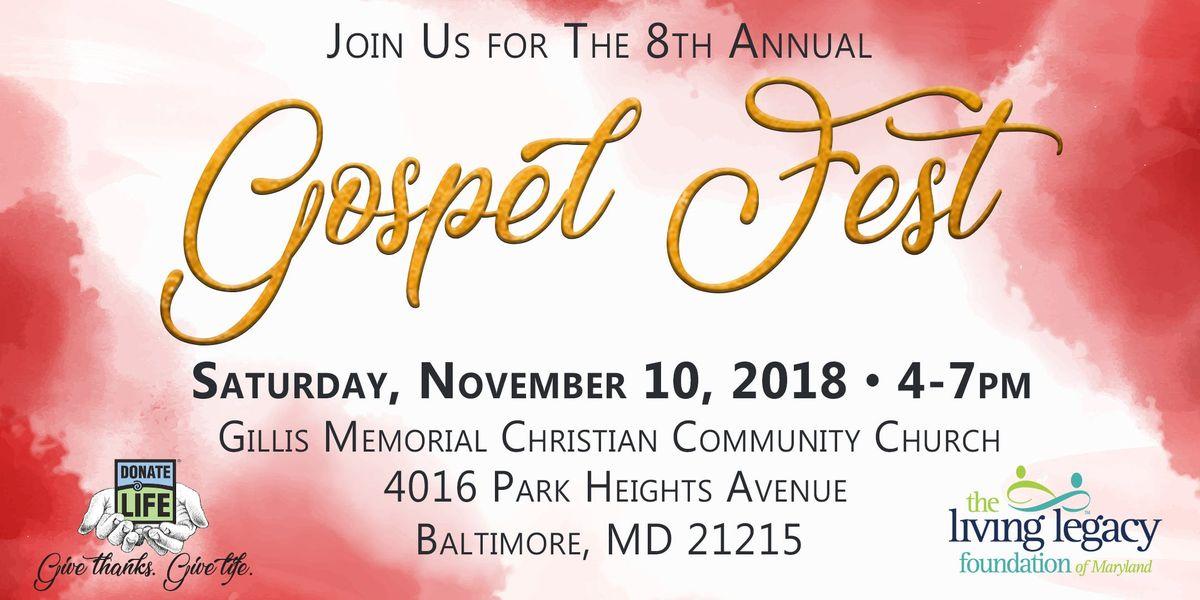 Donate Life Gospel Fest 2018