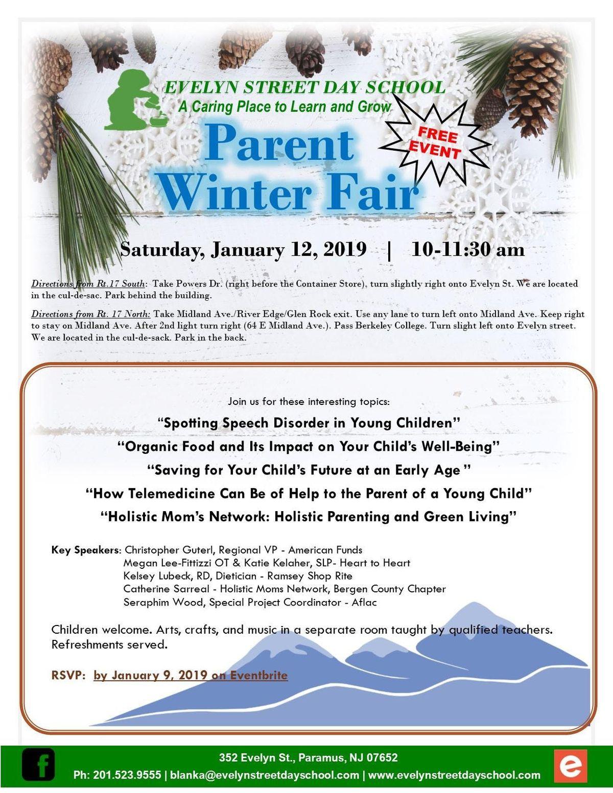 Winter Parent Fair at 352 Evelyn St, Paramus
