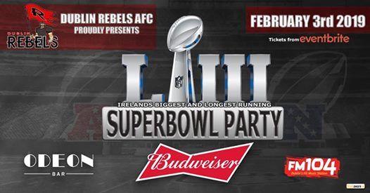 Dublin Rebels Annual Super Bowl Party 2019