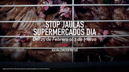 Semana de acciones Stop Jaulas Supermercados DIA