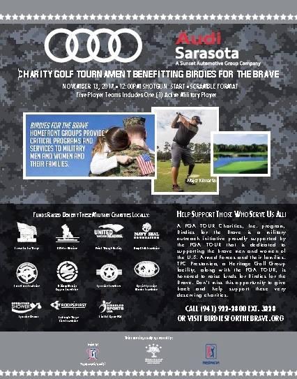 Birdies For The Brave Audi Sarasota Charity Golf Tournament At TPC - Audi sarasota
