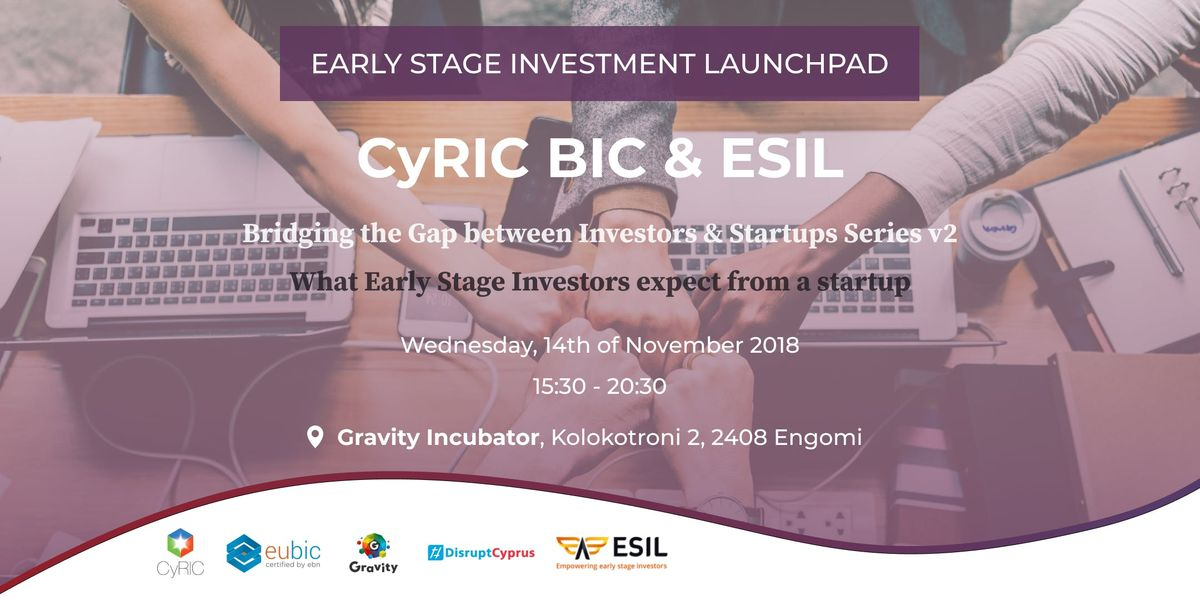 CyRIC BIC & ESIL - Bridging the Gap between Investors & Startups v2
