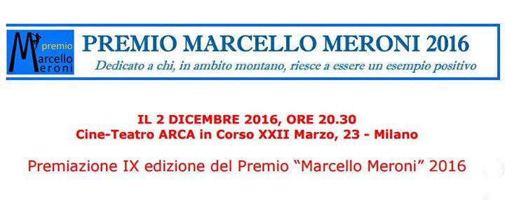 Premiazione IX edizione del Premio Marcello Meroni