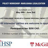 IHSP Policy Workshop on Marijuana Legalization