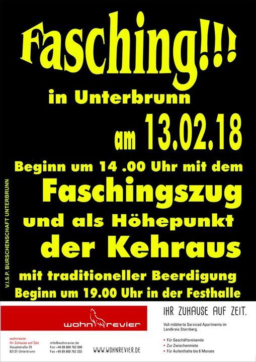 Faschingsumzug & Faschingstreiben in Unterbrunn 2018