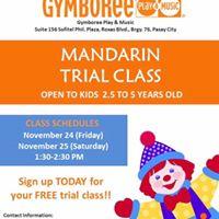 Mandarin Free Trial Class