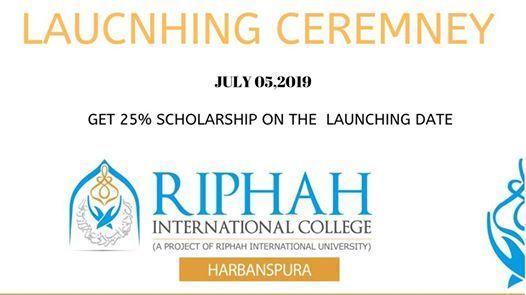 Launching Ceremony Riphah International College Harbanspura