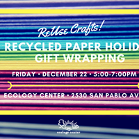 Reuse Crafts Recycled Paper Holiday Gift Wrapping
