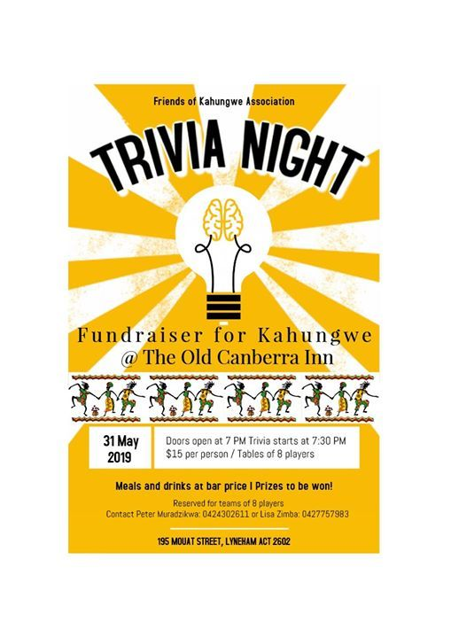 Kahungwe Trivia night at Old Canberra Inn, Canberra