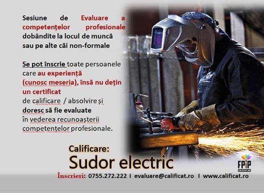 Certificarea competentelor in calificarea Sudor Electric