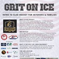 Intro to Sled Hockey for Veterans &amp Families
