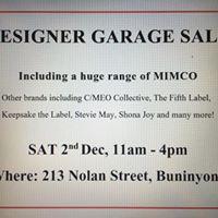 Designer Garage Sale