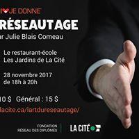 Lart du rseautage  Confrence par Julie Blais Comeau