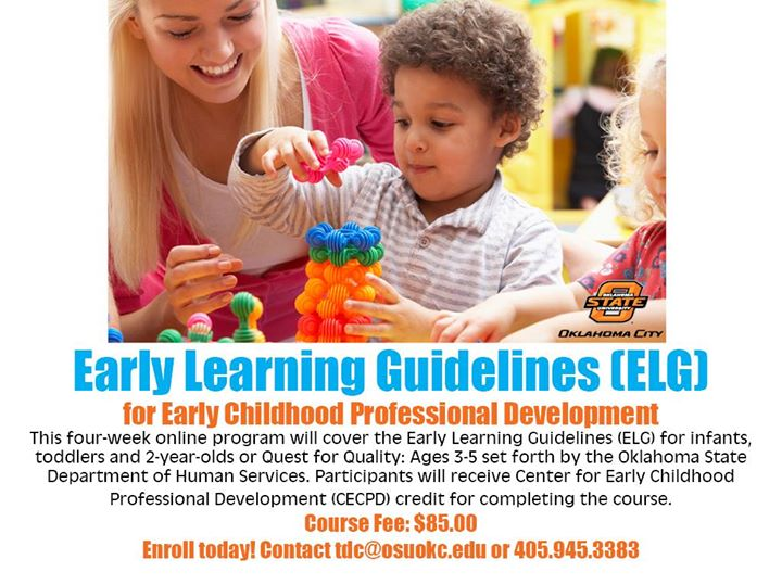 September Early Learning Guidelines Elg Class At Osu Okc Training