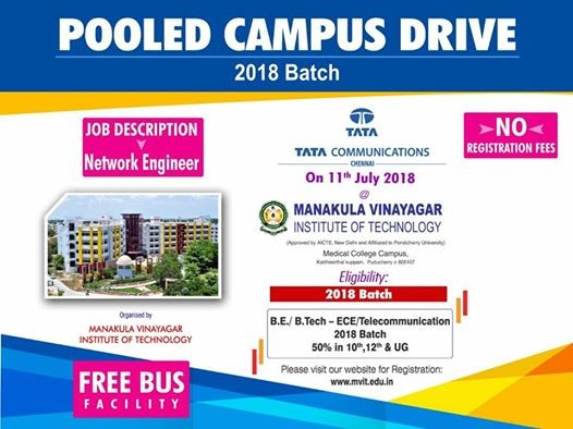 TATA Communication Campus Drive - Only 2018 Batch
