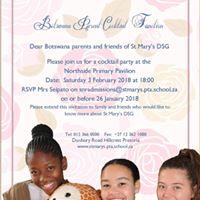 St Marys DSG Botswana parent cocktail party