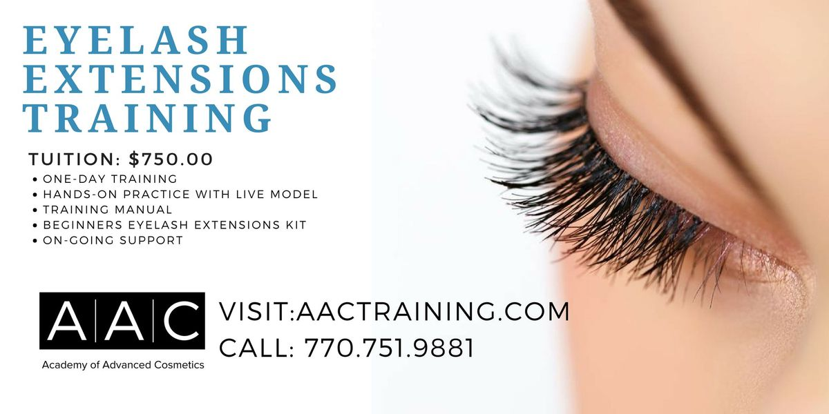 eyelash extensions certification training at academy of advanced ...