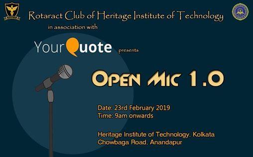 YourQuote Open Mic HIT Kolkata 1.0