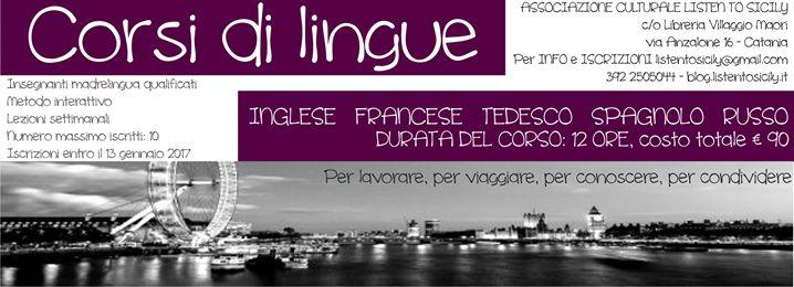 Corsi di Lingue Inglese Francese Tedesco Spagnolo Russo
